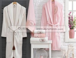 Velvet Fancy Bathrobe Set