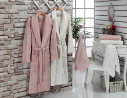 Bamboo bathrobe set